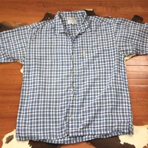 Men's Button Up Columbia Shirt Plaid